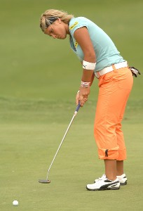 Nicole Perrot in action during the final round of the inaugural 2006 Fields Open in Hawaii at Ko Olina Golf Club in Kapolei, Hawaii February 25, 2006.Photo by Steve Grayson/WireImage.com