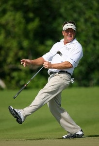 Fred Funk misses an eagle on the 13th hole during the final round of the Mayakoba Golf Classic at El Camaleon at Mayakoba in Playa Del Carmen, Mexico on February 25, 2007. PGA TOUR - 2007 Mayakoba Golf Classic - Final RoundPhoto by Mike Ehrmann/WireImage.com