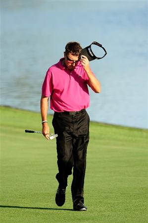 PONTE VEDRA BEACH, FL - MAY 09:  Robert Allenby of Australia walks down the 18th fairway during the final round of THE PLAYERS Championship held at THE PLAYERS Stadium course at TPC Sawgrass on May 9, 2010 in Ponte Vedra Beach, Florida.  (Photo by Sam Greenwood/Getty Images)