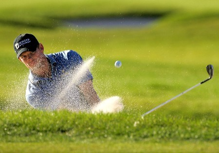 PALM BEACH GARDENS, FL - FEBRUARY 28:  James Driscoll hits from the bunker on the 13th hole during the first round of the Honda Classic at PGA National Resort and Spa on February 28, 2008 in Palm Beach Gardens, Florida.  (Photo by Sam Greenwood/Getty Images)