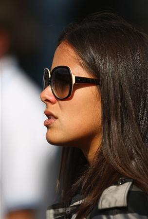 LUSS, UNITED KINGDOM - JULY 09:  Tennis player Ana Ivanovic watches the group of Adam Scott during the First Round of The Barclays Scottish Open at Loch Lomond Golf Club on July 09, 2009 in Luss, Scotland. (Photo by Richard Heathcote/Getty Images)