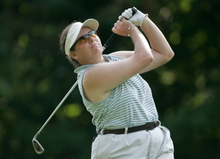 Moira Dunn in action during the first round of the Wendy's Championship for Children, Tartan Fields Golf Club, Dublin, Ohio.Photo by Hunter Martin/WireImage.com