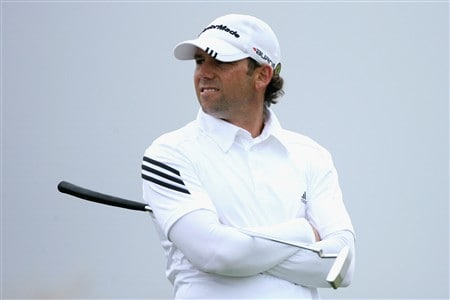SOUTHPORT, UNITED KINGDOM - JULY 18:  Sergio Garcia of Spain waits on a green during the second round of the 137th Open Championship on July 18, 2008 at Royal Birkdale Golf Club, Southport, England.  (Photo by Andy Lyons/Getty Images)