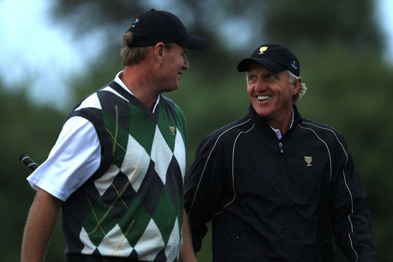 Ernie Els and Greg Norman