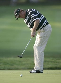 Greg Owen during the second round of the 2005 PGA Championship at Baltusrol Golf Club in Springfield, New Jersey on August 12, 2005.Photo by Hunter Martin/WireImage.com