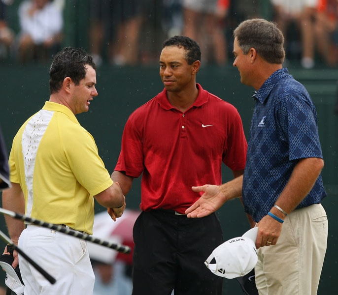 Rory Sabbatini, Tiger Woods and Kenny Perry