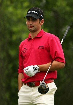 MALELANE, SOUTH AFRICA - DECEMBER 07:  Lee Slattery of England prepares to tee off on the ninth hole during the second round of The Alfred Dunhill Championship at The Leopard Creek Country Club on December 7, 2007 in Malelane, South Africa.  (Photo by Warren Little/Getty Images)