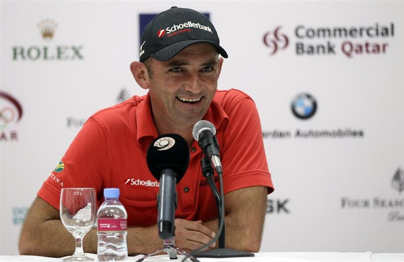 DOHA, QATAR - FEBRUARY 04:  Markus Brier of Austria after the second round of the Commercialbank Qatar Masters at the Doha Golf Club on February 4, 2011 in Doha, Qatar.  (Photo by Ross Kinnaird/Getty Images)