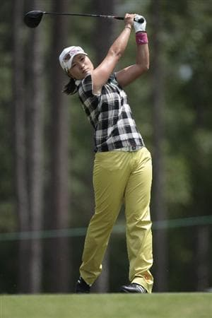 MOBILE, AL - MAY 14:  Se Ri Pak of South Korea hits her drive on the ninth tee during second round play in the Bell Micro LPGA Classic at the Magnolia Grove Golf Course on May 14, 2010 in Mobile, Alabama.  (Photo by Dave Martin/Getty Images)