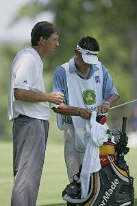 Steve Jones during the third round of the John Deere Classic at TPC at Deere Run in Silvis, Illinois on July 15, 2006.Photo by Michael Cohen/WireImage.com