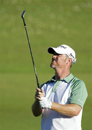 PLAYA DEL CARMEN, MEXICO - FEBRUARY 24:  Tag Ridings watches his shot during the first round of the Mayakoba Golf Classic at Riviera Maya-Cancun held at El Camaleon Golf Club on February 24, 2011 in Playa del Carmen, Mexico.  (Photo by Michael Cohen/Getty Images)