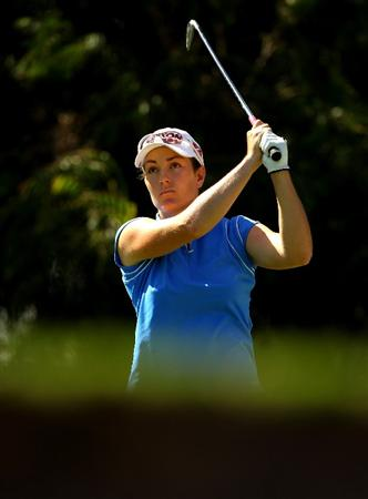 MELBOURNE, AUSTRALIA - MARCH 12:  Rebecca Flood of Australia plays her tee shot on the 15th hole during round two of the 2010 Women's Australian Open at The Commonwealth Golf Club on March 12, 2010 in Melbourne, Australia.  (Photo by Mark Dadswell/Getty Images)