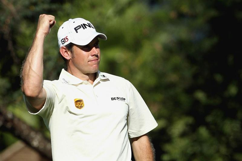 SUN CITY, SOUTH AFRICA - DECEMBER 5:  Lee Westwood of England in action during the final round of the Nedbank Golf Challenge at Gary Player Country Club on December 05, 2010 in Sun City, South Africa.  (Photo by Luke Walker/Gallo Images/Getty Images)