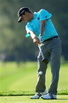 BLOOMFIELD HILLS, MI - AUGUST 06:  Charles Howell III plays a shot during a practice round prior to the 90th PGA Championship at Oakland Hills Country Club on August 6, 2008 in Bloomfield Township, Michigan.  (Photo by Stuart Franklin/Getty Images)