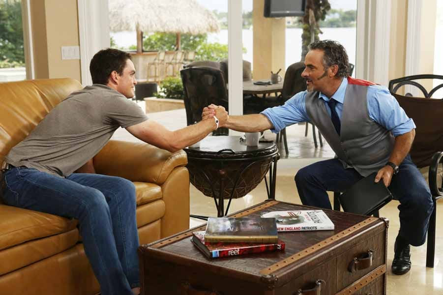 Keegan Bradley and Feherty Shaking Hands