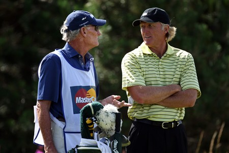 TROON, UNITED KINGDOM - JULY 24:  Greg Norman of Australia during the first round of the Senior Open Championships at Royal Troon on July 24,2008 in Troon,Scotland.  (Photo by Ross Kinnaird/Getty Images)