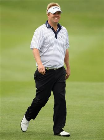 NEWPORT, WALES - JUNE 02:  Ross McGowan of England in action during the Pro Am prior to the start of the Celtic Manor Wales Open on The Twenty Ten Course at The Celtic Manor Resort on June 2 2010 in Newport, Wales.  (Photo by Andrew Redington/Getty Images)