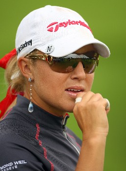 SINGAPORE - FEBRUARY 29:  Natalie Gulbis of USA waits on the 15th hole during the second round of the HSBC Women's Champions at Tanah Merah Country Club on February 29, 2008 in Singapore.  (Photo by Andrew Redington/Getty Images)