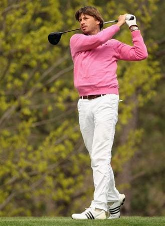 ICHEON, SOUTH KOREA - APRIL 29:  Robert Jan Derksen of The Netherlands in action during the second round of the Ballantine's Championship at Blackstone Golf Club on April 29, 2011 in Icheon, South Korea.  (Photo by Andrew Redington/Getty Images)