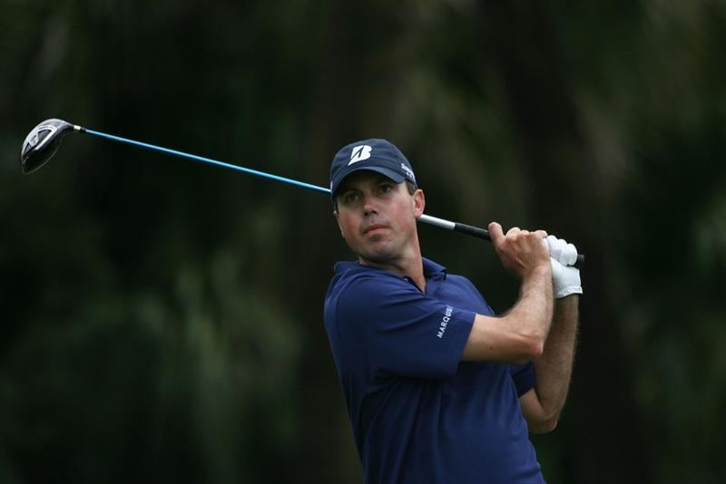 DORAL, FL - MARCH 11:  Matt Kuchar plays a shot on the 12th hole during round one of the 2010 WGC-CA Championship at the TPC Blue Monster at Doral on March 11, 2010 in Doral, Florida.  (Photo by Marc Serota/Getty Images)