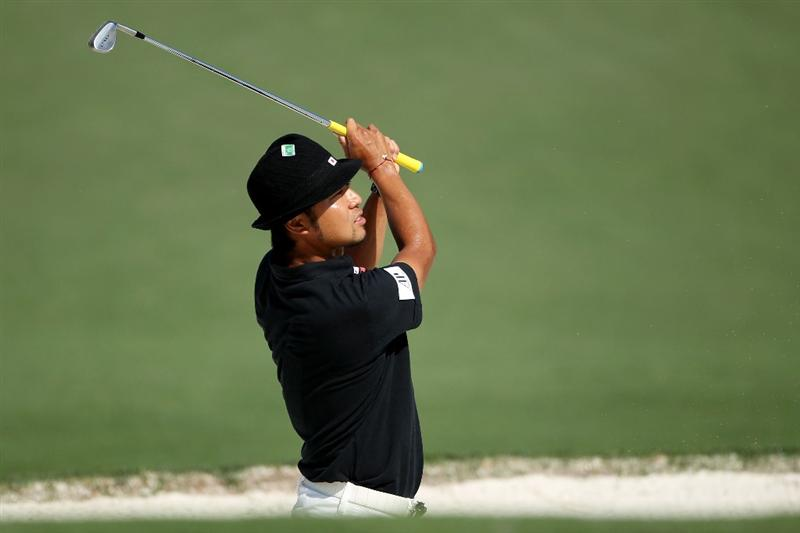 AUGUSTA, GA - APRIL 07:  Shingo Katayama of Japan watches a shot during a practice round prior to the 2010 Masters Tournament at Augusta National Golf Club on April 7, 2010 in Augusta, Georgia.  (Photo by Andrew Redington/Getty Images)