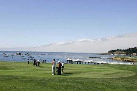 Course scenic of the 4th hole during the final round of the 2005 Wal-Mart First Tee Open at Pebble Beach Golf Links, on September 4,2005. The event is being held at Pebble Beach Golf Links & Del Monte G.C., Pebble Beach, Ca. Hale Irwin shot -13 under for the win.  It's his third win of the 2005 season.Photo by Stan Badz/PGA TOUR/WireImage.com