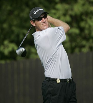 Greg Owen during the first round of the 2005 PGA Championship at Baltusrol Golf Club in Springfield, New Jersey on August 11, 2005.Photo by Hunter Martin/WireImage.com