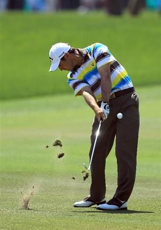 ORLANDO, FL - MARCH 27:  Trevor Immelman of South Africa plays his second shot on the 1st hole during the final round of the 2011 Arnold Palmer Invitational presented by Mastercard at the Bay Hill Lodge and Country Club on March 27, 2011 in Orlando, Florida.  (Photo by David Cannon/Getty Images)