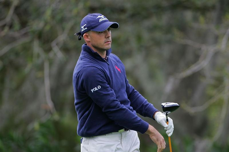 PALM HARBOR, FL - MARCH 18:  Jonathan Byrd watches his drive during the first round of the Transitions Championship at the Innisbrook Resort and Golf Club held on March 18, 2010 in Palm Harbor, Florida.  (Photo by Michael Cohen/Getty Images)