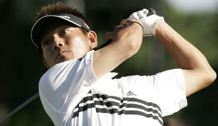Hidemichi Tanaka of Nagoya. Japan,  in action during the first round of the Buick Championship at Tournament Player Club at River Highlands, in Cromwell, Connecticut, Thursday, August 25, 2005. He finished with a 4-under-par 66 .Photo by Jim Rogash/WireImage.com