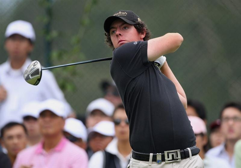 HONG KONG, CHINA - NOVEMBER 22:  Rory McIlroy of Nothern Ireland plays his tee shot on the 11th hole during the third round of the UBS Hong Kong Open at the Hong Kong Golf Club on November 22, 2008 in Fanling, Hong Kong.  (Photo by Stuart Franklin/Getty Images)