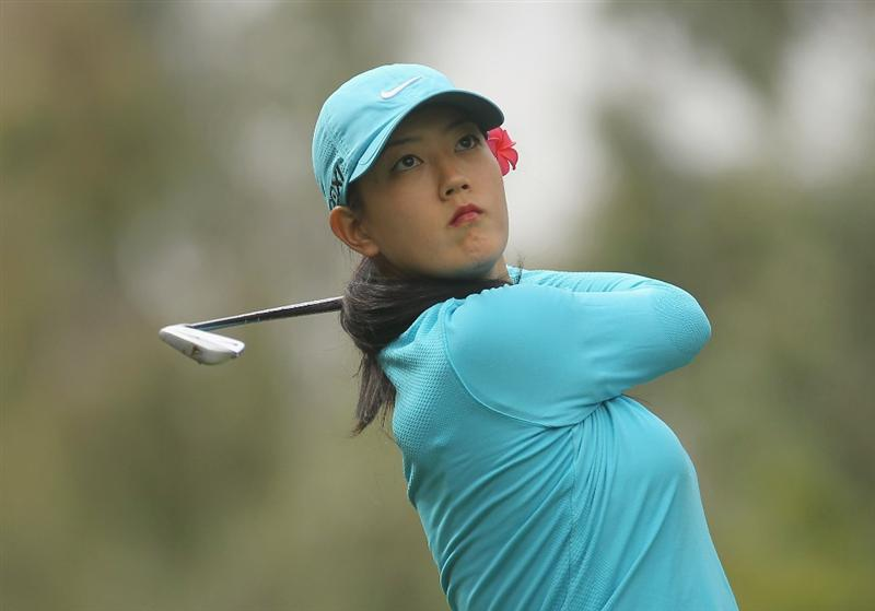CITY OF INDUSTRY, CA - MARCH 26:  Michelle Wie hits a shot to the eighth green during the third round of the Kia Classic on March 26, 2011 at the Industry Hills Golf Club in the City of Industry, California.  (Photo by Scott Halleran/Getty Images)