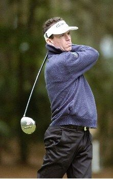 Skip Kendall tees off the 15thduring the first round of the MCI Heritage at Harbor Photo by Marc Feldman/WireImage.com