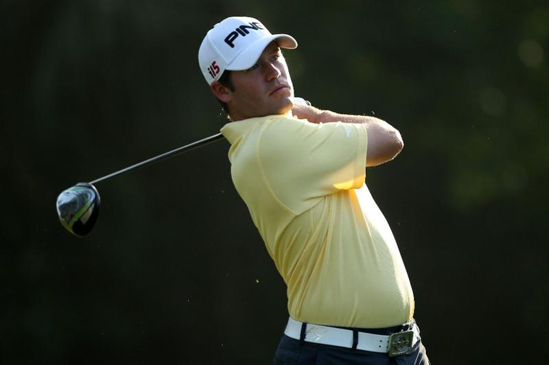 PONTE VEDRA BEACH, FL - MAY 04:  Alex Prugh hits a shot during a practice round prior to the start of THE PLAYERS Championship held at THE PLAYERS Stadium course at TPC Sawgrass on May 4, 2010 in Ponte Vedra Beach, Florida.  (Photo by Scott Halleran/Getty Images)