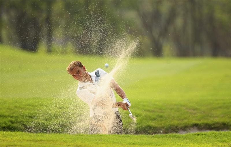 CHENGDU, CHINA - APRIL 22:  Joost Luiten of The Netherlands in action during day two of the Volvo China Open at Luxehills Country Club on April 22, 2011 in Chengdu, China.  (Photo by Ian Walton/Getty Images)