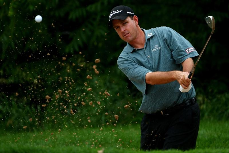 OAKVILLE, ONTARIO - JULY 23: Jeff Klauk plays out of the bunker on the 16th green during round one of the RBC Canadian Open at Glen Abbey Golf Club on July 23, 2009 in Oakville, Ontario, Canada.  (Photo by Chris McGrath/Getty Images)