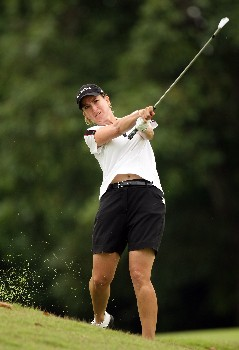SINGAPORE - FEBRUARY 29:  Karrie Webb of Australia on the par four 4th hole during the second round of the HSBC Women's Champions at the Tanah Merah Country Club on February 29, 2008 in Singapore.  (Photo by Ross Kinnaird/Getty Images)