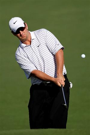 AUGUSTA, GA - APRIL 06:  David Duval plays a shot during a practice round prior to the 2010 Masters Tournament at Augusta National Golf Club on April 6, 2010 in Augusta, Georgia.  (Photo by Jamie Squire/Getty Images)