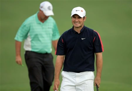 AUGUSTA, GA - APRIL 11:  Trevor Immelman of South Africa reacts to a putt on the first hole during the second round of the 2008 Masters Tournament at Augusta National Golf Club on April 11, 2008 in Augusta, Georgia.  (Photo by Harry How/Getty Images)