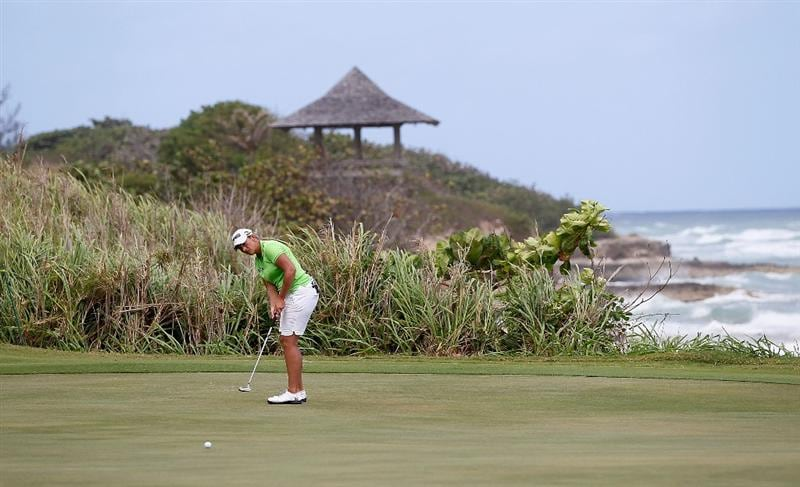 MONTEGO BAY, JAMAICA - APRIL 15:  Angela Stanford of the United States putts on the sixth green during the first round of The Mojo 6 Jamaica LPGA Invitational at Cinnamon Hill Golf Course on April 15, 2010 in Montego Bay, Jamaica.  (Photo by Kevin C. Cox/Getty Images)