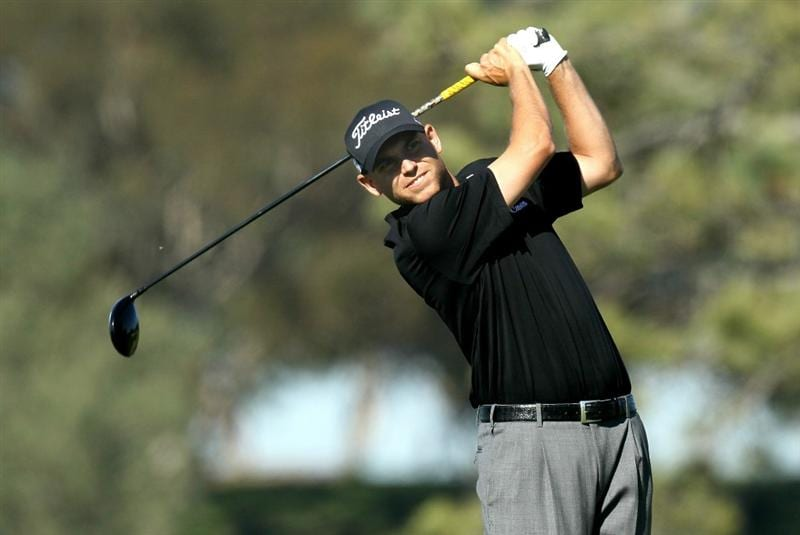 LA JOLLA, CA - JANUARY 28:  Bill Haas hits his tee shot on the fifth hole during round two of the Farmers Insurance Open at Torrey Pines South Course on January 28, 2011 in La Jolla, California.  (Photo by Stephen Dunn/Getty Images)