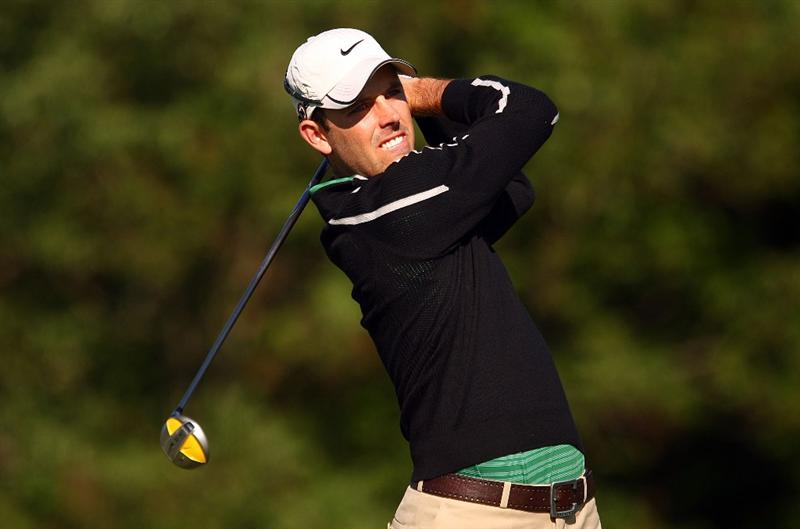 DUBLIN, OH - JUNE 05:  Charl Schwartzel of South Africa watches his tee shot on the first hole during the second round of the Memorial Tournament at the Muirfield Village Golf Club on June 5, 2009 in Dublin, Ohio.  (Photo by Scott Halleran/Getty Images)