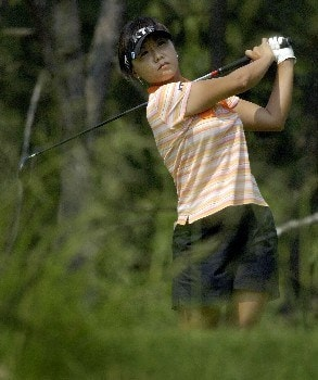 SOUTHERN PINES, NC - JUNE 27:  Mi Hyun Kim of Korea hits from the 5th tee during a practice round prior to the start of the U.S. Women's Open Championship at Pine Needles Lodge & Golf Club on June 27, 2007 in Southern Pines, North Carolina. (Photo by Jonathan Ernst/Getty Images)