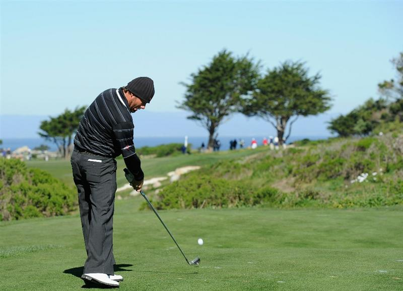 PEBBLE BEACH, CA - FEBRUARY 10: Alex Cejka of Germany plays a shot during the first round of the AT&T Pebble Beach National Pro-Am at Monterey Peninsula Country Club on February 10, 2011  in Pebble Beach, California.  (Photo by Stuart Franklin/Getty Images)