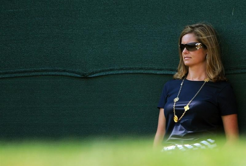 LOUISVILLE, KY - SEPTEMBER 20:  Tabitha Furyk watches the play during the afternoon four-ball matches on day two of the 2008 Ryder Cup at Valhalla Golf Club on September 20, 2008 in Louisville, Kentucky.  (Photo by Sam Greenwood/Getty Images)