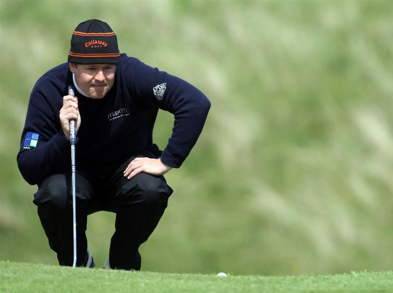 BALTRAY, IRELAND - MAY 17: Alastair Forsyth of Scotland during the final round of The 3 Irish Open at County Louth Golf Club on May 17, 2009 in Baltray, Ireland.  (Photo by Ross Kinnaird/Getty Images)