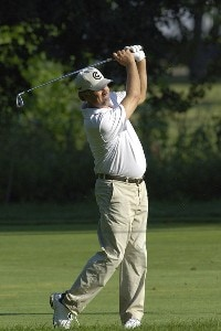 Andrew Magee during the continuation of the first round of the U.S. Bank Championship in Milwaukee at Brown Deer Park Golf Course in Milwaukee, Wisconsin, on July 28, 2006.Photo by Steve Levin/WireImage.com
