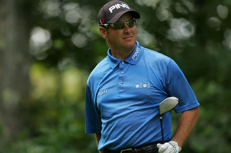 NORTON, MA - SEPTEMBER 05:  Ted Purdy of the United States during the second round of the Deutsche Bank Championship at TPC Boston held on September 5, 2009 in Norton, Massachusetts.  (Photo by Michael Cohen/Getty Images)
