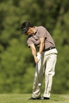 Jean van de Velde during the final round of the 2005 Aa St. Omer Open at the Aa St. Omer Golf Club, June 18, 2005.Photo by Pete Fontaine/WireImage.com