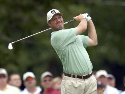 Jerry Kelly during the fourth and final round of the U.S. Bank Championship in Milwaukee at Brown Deer Park Golf Course in Milwaukee, Wisconsin, on July 30, 2006.Photo by Steve Levin/WireImage.com